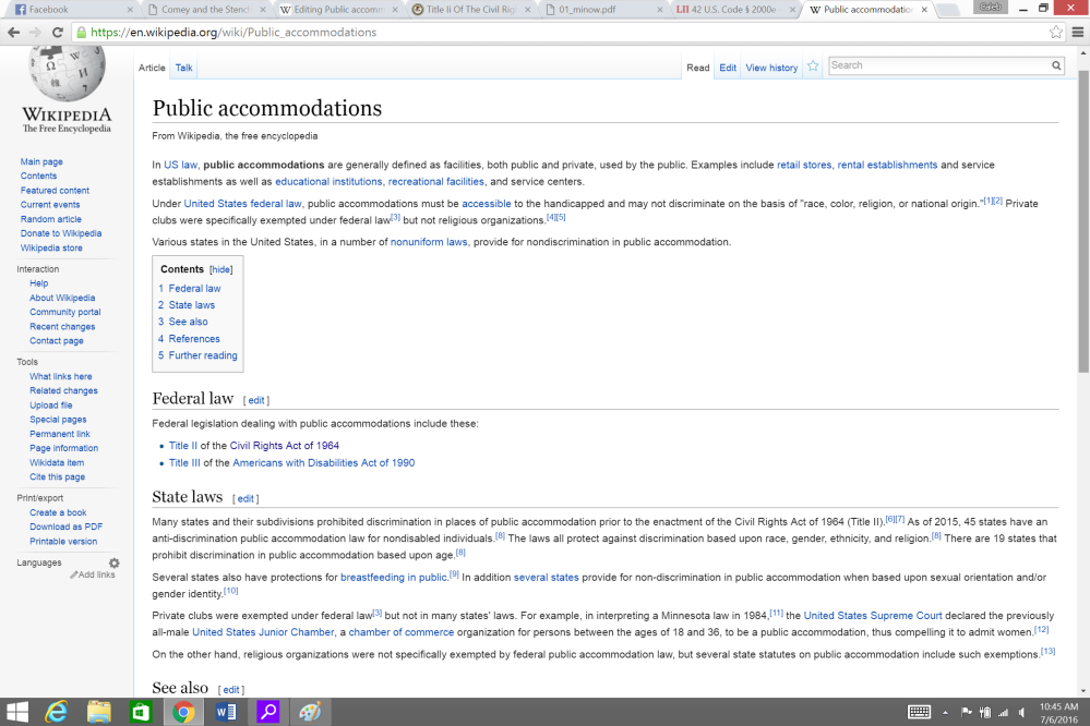 Wikipedia page Public Accommodations