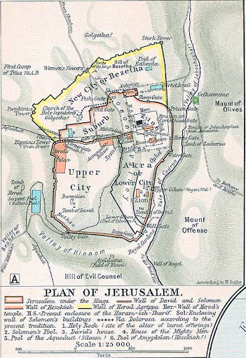 Map of Jerusalem 2